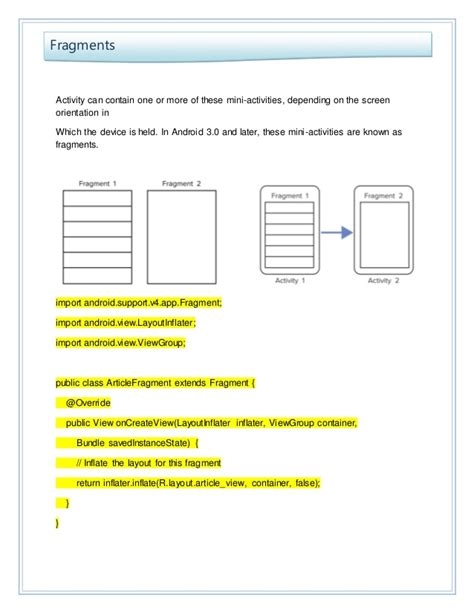 layoutinflater outside activity android programing course material