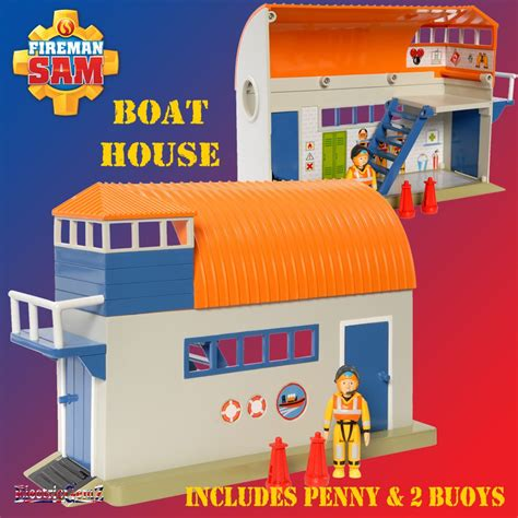 fireman sam boat house fireman sam boathouse boat house playset with penny figure new