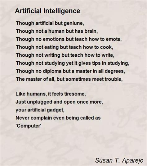 artificial intelligence and free will on the day of kindergarten the reality of mind and free will books artificial intelligence poem by susan t aparejo poem