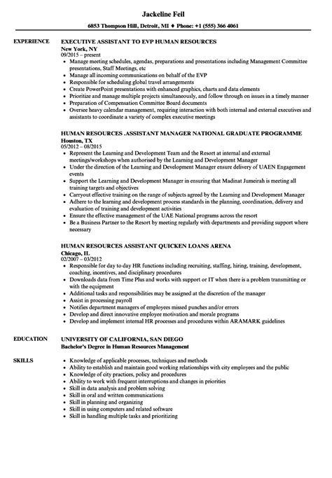 Human Resources Assistant Resume by Human Resources Assistant Human Resources Resume Sles