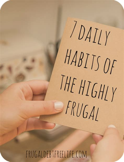daily habits   highly frugal frugal debt  life