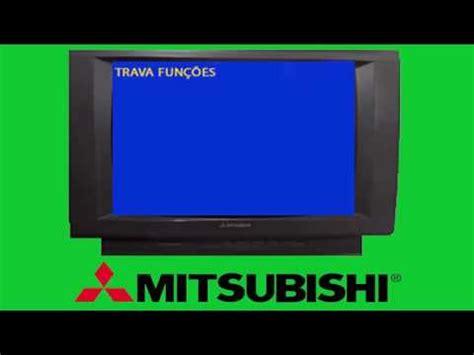 tv mitsubishi trava funcoes  resolvido youtube