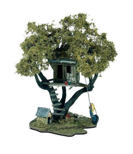 tree house kit tommy s treehouse ho scale kit mini scene 174 woodland scenics model layouts