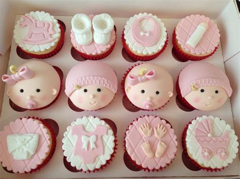 Baby Shower Cupcakes by Christening Baby Shower And Gender Reveal Cakes