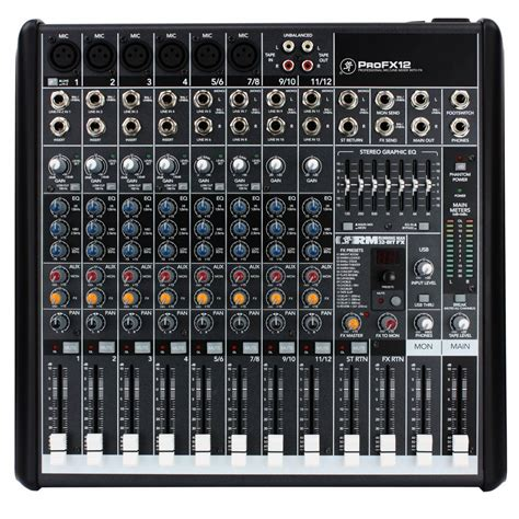 Mixer Audio Profesional mackie pro fx12 mixer live usb mixer profx12