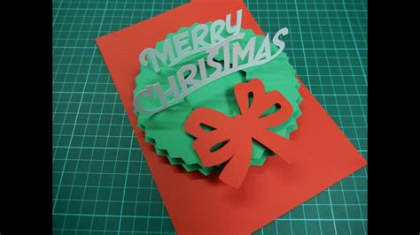 christmas pop  card tutorial  youtube