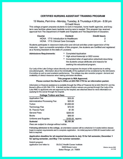 sle resume for cna position sle resume for cna with objective 28 images certified