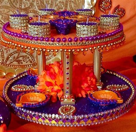 Etsy Decor by Mehndi Wedding Trays Thaals By Candletastic On Etsy