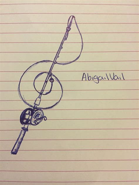 fishing pole tattoo designs design i thought up fishing pole treble clef hair