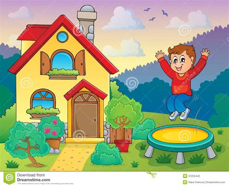 house of cards theme music download boy playing near house theme 1 stock photography image 37225442
