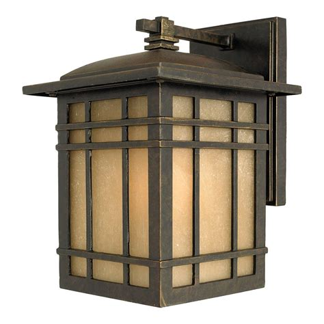 Quoizel Outdoor Lighting Shop Quoizel Hillcrest 10 In H Imperial Bronze Outdoor Wall Light At Lowes