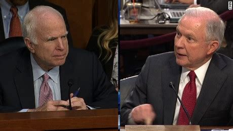 jeff sessions john mccain mccain questions sessions about russia meeting cnn video