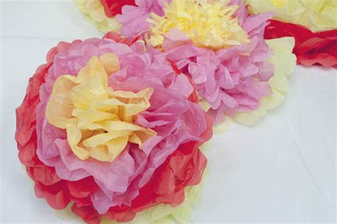 How To Make Mexican Paper Flowers With Tissue Paper - how to make mexican tissue paper flowers clumsy crafter