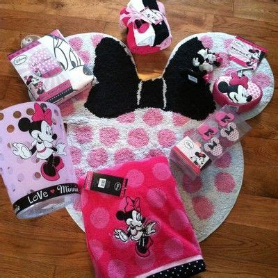 Minnie Mouse Bathroom Rug New Lot Disney Minnie Mouse Bath Set Shower Curtain Hooks Towel Rug More