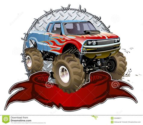 bigfoot monster truck cartoon cartoon monster truck royalty free stock photography