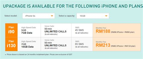 enjoy umobile unlimited calls 7gb quota on iphone 6s for rm188 month zing gadget