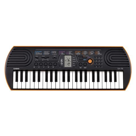 Keyboard Casio casio sa 76 44 key portable keyboard at gear4music