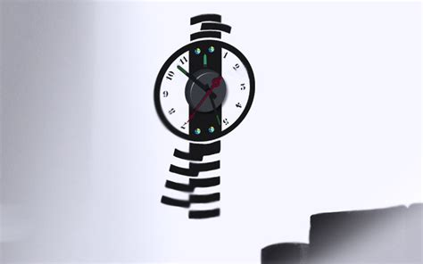 horloge stikers horloge murale balancier design
