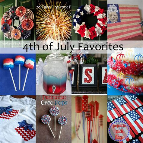 12 crafts and recipes to make for july 4th and creative showcase housewife eclectic