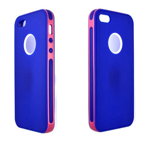 Pink Iphone Cases On The Cheap by Wholesale Iphone 5 5s 2 In 1 Hybrid Pink Blue