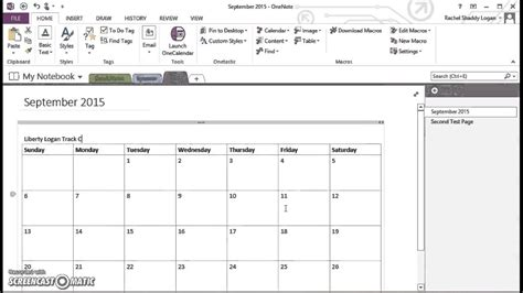 calendar template onenote onenote for homeschool insert monthly calendar