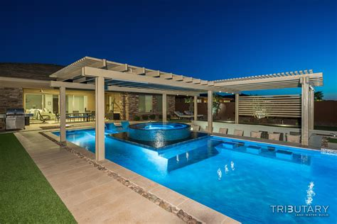 How To Design Backyard contemporary multi tainment tributary pools amp spas