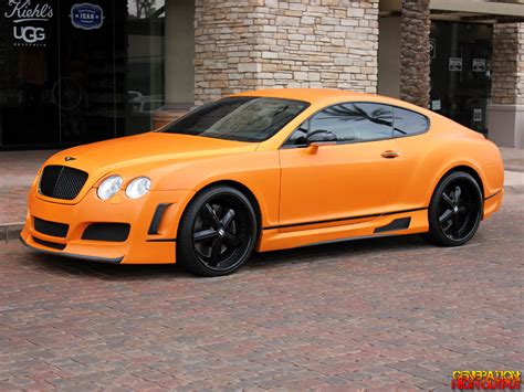 roll royce orange matte orange 2007 bentley continental gt genho