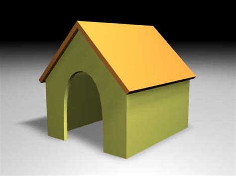 dog house models doghouse small shelter shed for dogs obj obj software architecture objects