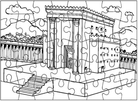 king solomon coloring pages activities solomon s temple jigsaw puzzle this puzzle page will help