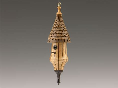 no 290 woodturned birdhouse christmas ornament birdhouse