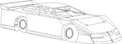 Dirt Late Model Coloring Pages Free Of Stock Car sketch template