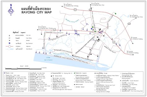 a map rayong tourist map map of thailand