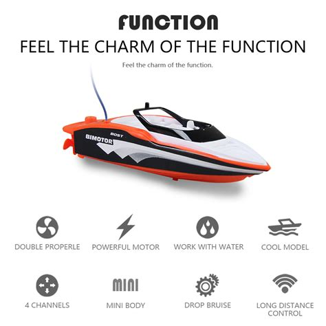 mini boat for child portable mini rc high speed racing boat remote control