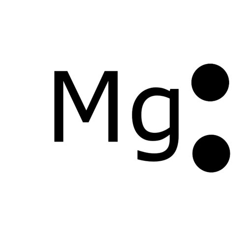 mg dot diagram magnesium lewis dot structure