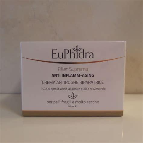 euphidra filler suprema crema antirughe euphidra filler suprema anti inflamm aging signorina bloggy