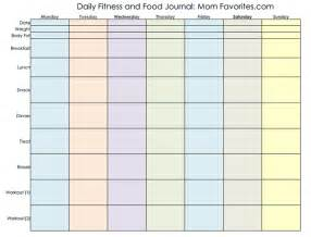 Food And Exercise Diary Template by 9 Best Images Of Food And Exercise Journal Printable