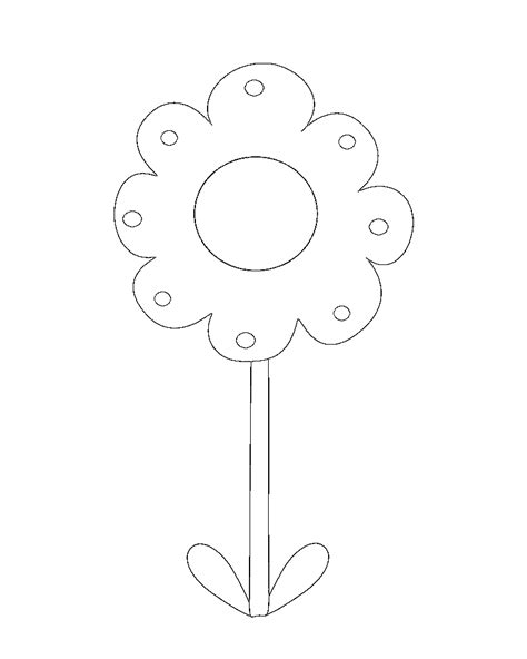 cute flowers colouring pages