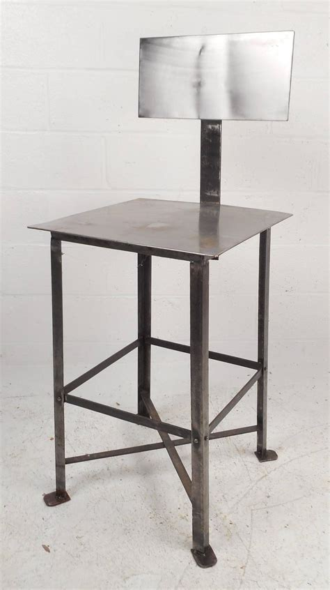 modern industrial bar stools industrial modern metal bar stool for sale at 1stdibs