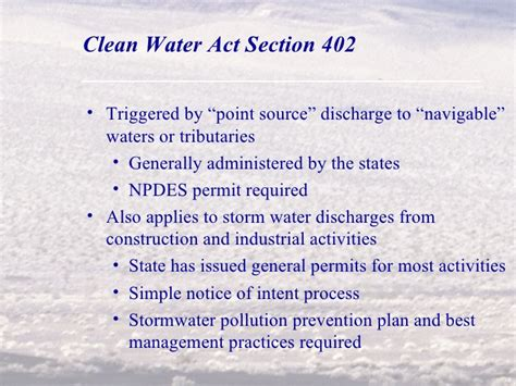 section 402 clean water act permitting solar wind and geothermal projects on public