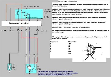 windshield wiper motor wiring diagram wiring diagram and