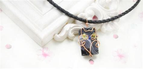 Copper Decorations Home How To Wire Wrap A Cute Cat Above Stones For Pendants