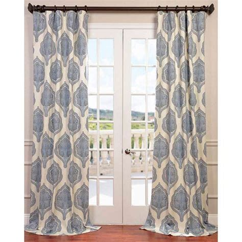 120 curtain panels arabesque blue 120 x 50 inch curtain single panel half