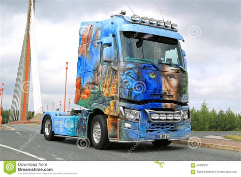 renault trucks t avatar on the road editorial photography