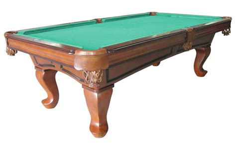 Antique Pool Table by Furniture Pool Table With Spoon Leg In Antique Walnut