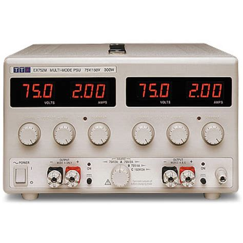 what is a bench power supply tti ex752m 75v multi mode dual bench power supply
