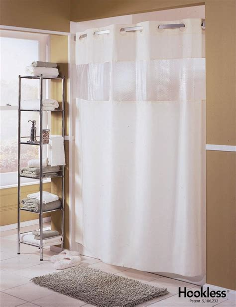 Shower Curtains For Glass Showers Hookless Shower Curtain Hbh41bub01w Major White Ply