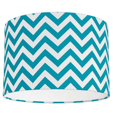 teal and white l shade zig zag lshade choice of colours by quirk