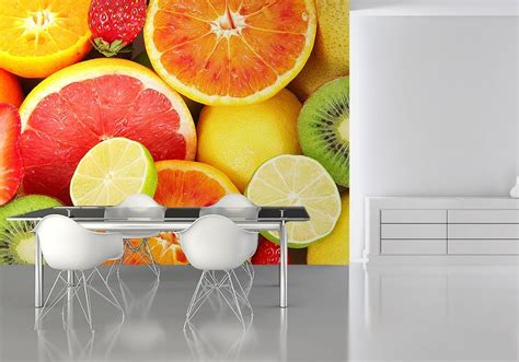 Large Wall Murals Uk fruits kitchen wall decor paper wallpapers online store