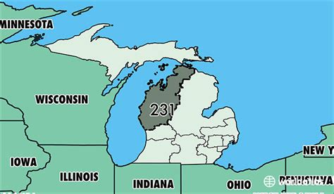 us area code michigan where is area code 231 map of area code 231 muskegon