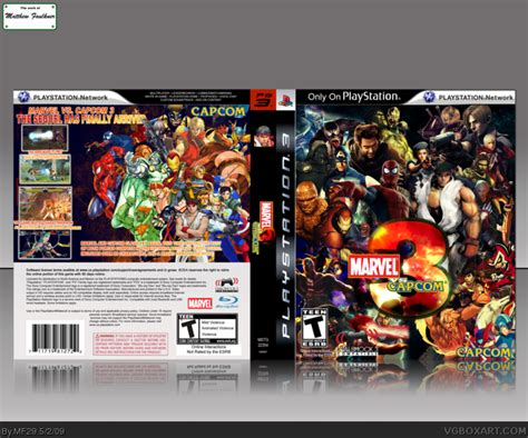 Original Playstation Ps3 Ultimate Marvel Vs Capcom Reg 2 Eu marvel vs capcom 3 the next generation playstation 3 box cover by mf29